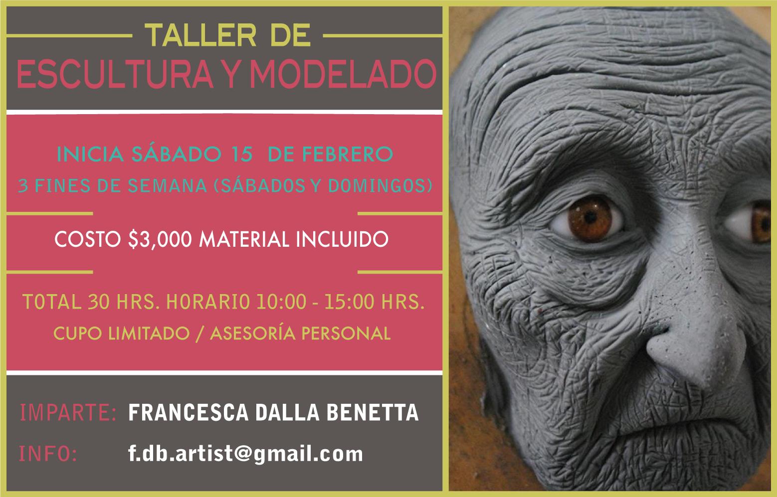 flyer para web escultura 15 febrero