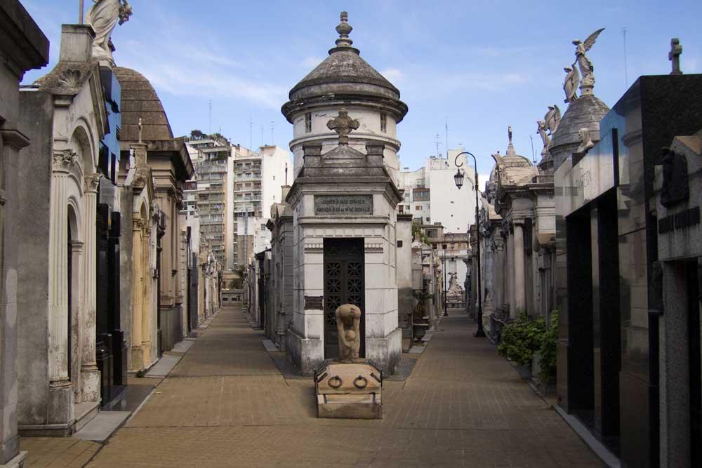 Resultado de imagen para Cementerio recoleta de argentina