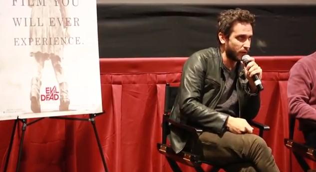 Fede Álvarez en una charla después de un screenig en Filadelfia