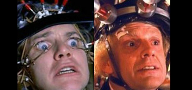 Alex de Clockwork Orange y Dr. Emmett Brown