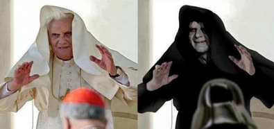 Joseph Ratzinger y Darth Sidious