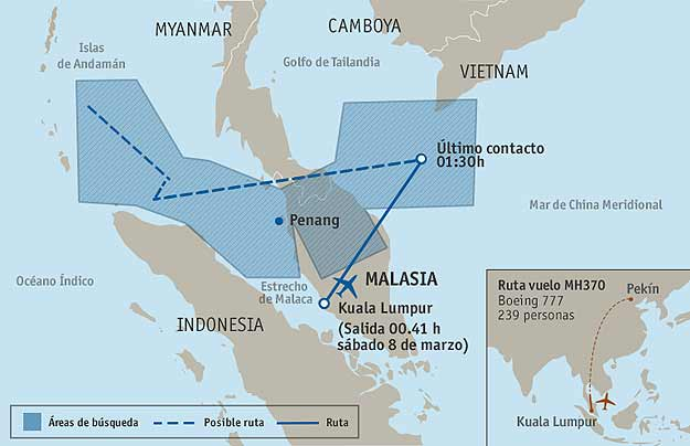 ultima-posicion-del-vuelo-MH370-de-Malaysia-Airlines