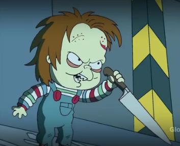 Chucky en Los Simpsons