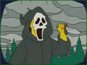 Ghostface en Los Simpsons