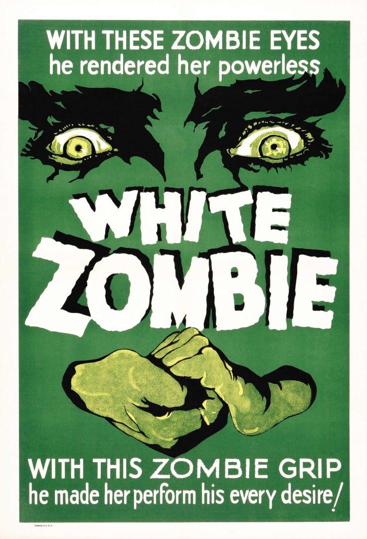 Poster white xombie