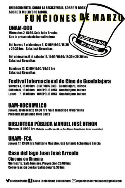 cartel marzo aliciaBN